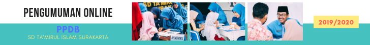 Pengumuman Online PPDB SD Ta'mirul Islam 2019/2020